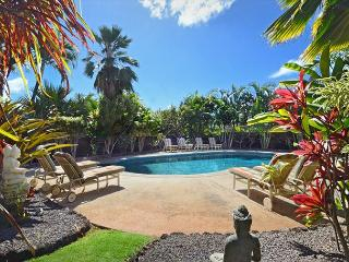4 bedroom suites, a/c, pool, spa, ocean views, short walk to Poipu's beaches, Koloa