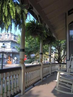 Side porch-- overlooks the Queen Victoria B&B