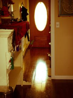 Front hall way hardwood floors