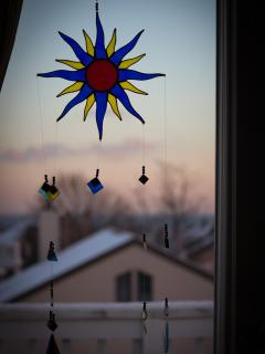 Art in Master bedroom window