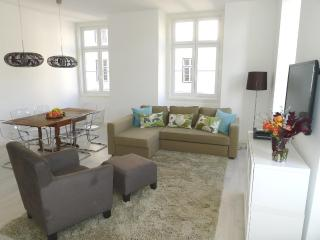 Comfortable, classy, open room with lots of light
