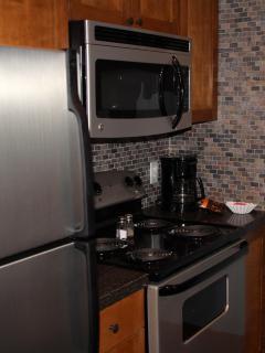 Slate back splash & new appliances