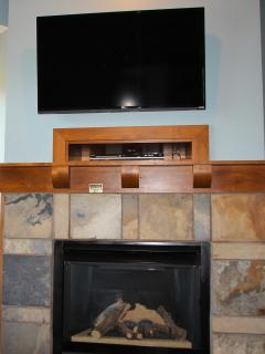 47' Flat screen, smart, TV allows you to surf the