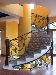 An architectural and artistic masterpiece -- a spiral staircase runs through the heart of La Casa.