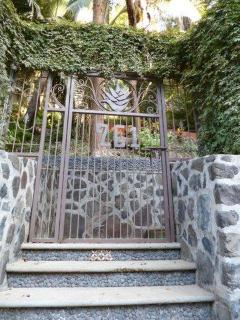 This is the gate at the bottom of the property.  You are now two or three minutes from the beach.