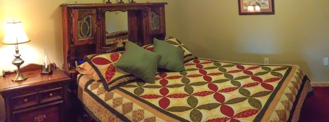 Panoramic view of Master Bedroom with Queen size bed