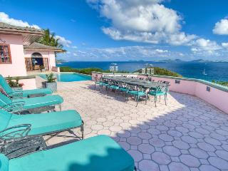 Rhumb House at Nora Hazel Point, Tortola - Ocean View, Koi Pond, Lush Atrium