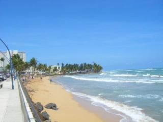 La Pared Beach means 'The Wall' which runs along the town's seaside promenade.
