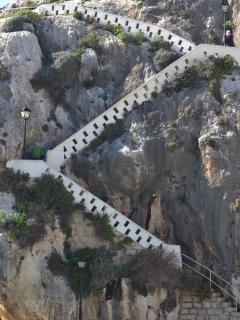 Xlendi Bay Gozo - stairs...