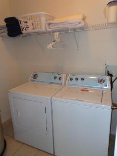Full Size Washer & Dryer Inside Unit