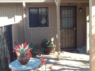 Entrance to casita and glimpse of private patio