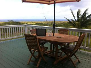 The house faces southeast, with incredible sunrises. Great spot for breakfast or lunch.