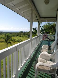 Guests can access the lanai from the bedroom for a coffee and watch the sunrise.