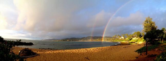 Rainbows over our beach