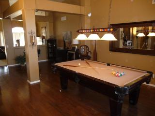 Pool table and game room