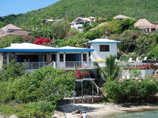 Beach Front Private Villa 3/2 with Pool and Dock, Virgen Gorda
