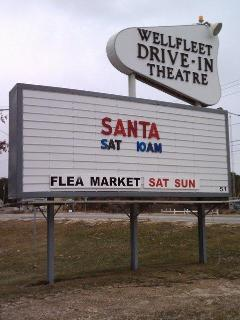 The famous Wellfleet Drive In and flea market