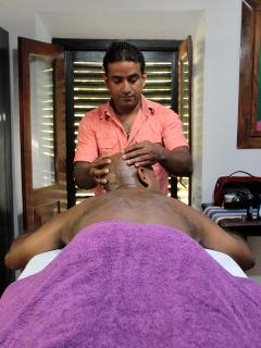Templeberg's in-house Ayurvedic Therapist Tyronne, Massage in Galle