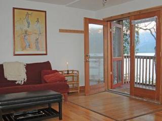 French doors leading to the deck