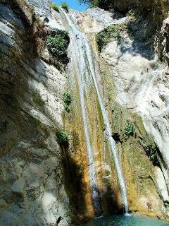 waterfalls 20 min drive from villa