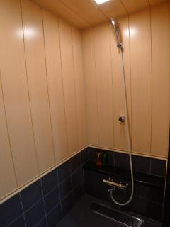 Beautiful shower room high flow shower head and thermo tiles for winters.