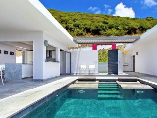 CRYSTAL...dazzling contemporary villa overlooking Guana Bay, St Maarten