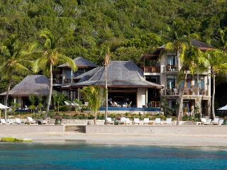 Villa Aquamare III at Mahoe Bay,Virgin Gorda  - Beachfront, Pool, Surrounded By Tropical Landscaping