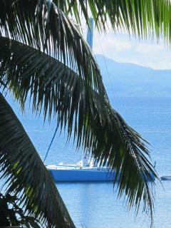 Catamaran at anchor