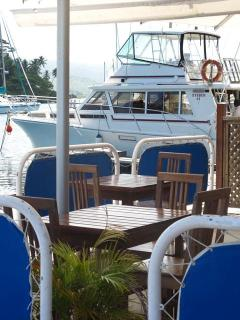 'Captains Table' restaurant at Copra Shed Marina