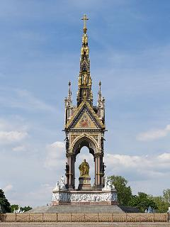 Albert Memorial in Kensington Gardens...