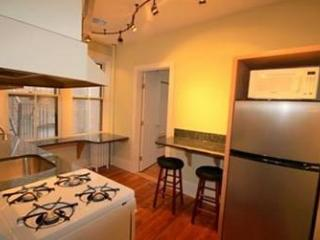 Granite-countered kitchen. City dining is expensive!  Eat in sometimes and save!