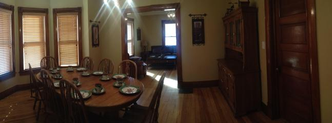 Formal dining room.  Table expands to seat 12.