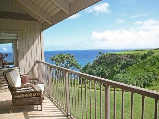 Breathtaking Ocean Views - Pali Ke Kua 233.  Two-story ocean view townhouse, Princeville