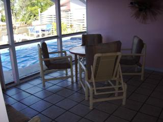 Water front FMB #2, dock, pool, 1 block to beach