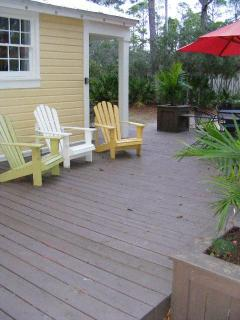 Outdoor Deck. Soak in the Sun, Grill Out, Listen to Music after Watching a Great Sunset at the Beach