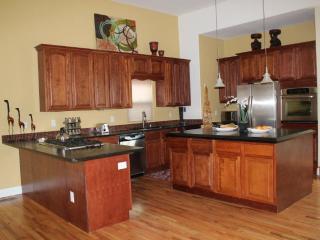 Kitchen. Stainless, 5-Burner Gas, Soapstone Countertops