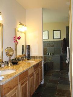 Master Bath with Oversize Soaking Tub & Dual Head Rain Shower