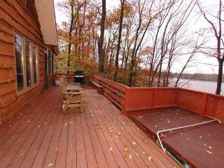 Lakefront Chalet w/ Hot Tub, Dock, Boat, Game Room