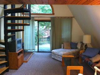Living room, rear slider to deck