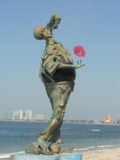 One of the many sculptures on the Malecon in Puerto Vallarta