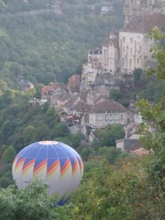 Balloons over Rocamadour nearby