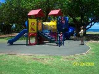 Speeltuin in Park plus schommels niet weergegeven