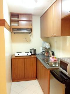 Kitchen with Electric Range with Hood