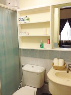 Toilet & Bath complete with toiletries