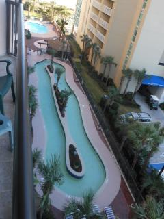 View of Lazy River from Balcony