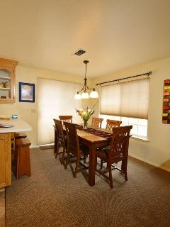 Dining room with great view of Mt. Shasta looking over your shoulder while eating