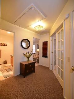 Upstairs hallway.. far left door to MountainView Bedroom, right Fench Doors to Willows Bedroom
