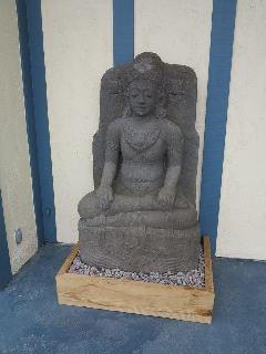 Balinese hand crafted Shiva statue welcoming you on front porch
