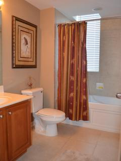 Second bathroom with tub/shower combination