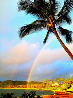 Rainbow over our beach